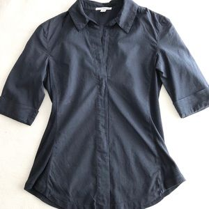 James Perse Navy Button Up sz 1